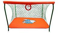 Манеж игровой KinderBox с крупной сеткой Оранжевый  КОД: km 5514