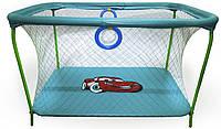 Манеж игровой KinderBox с крупной сеткой Синий  КОД: km 199