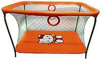 Манеж игровой KinderBox с крупной сеткой Оранжевый  КОД: km 53