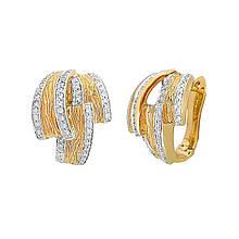 Сережки з жовтого золота з діамантами (000210)