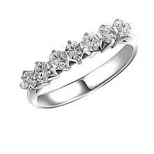 Золотое кольцо с бриллиантами, размер 17.5 (1662040)