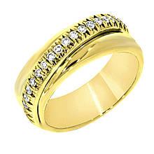 Золоте кільце з діамантами, розмір 16.5 (815705)