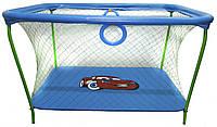 Манеж игровой KinderBox с крупной сеткой Синий  КОД: km 73