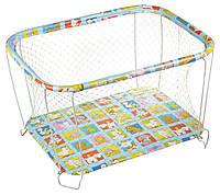 Манеж игровой KinderBox с крупной сеткой Разноцветный  КОД: kmk 2226