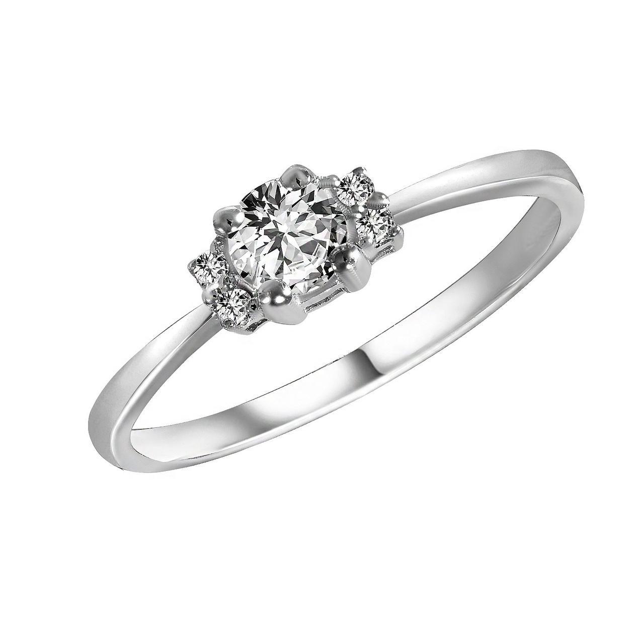 Золотое кольцо с бриллиантами, размер 16 (1695519)