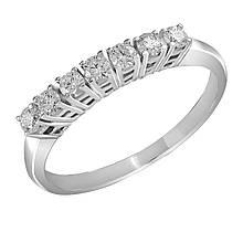 Золотое кольцо с бриллиантами, размер 18 (872580)