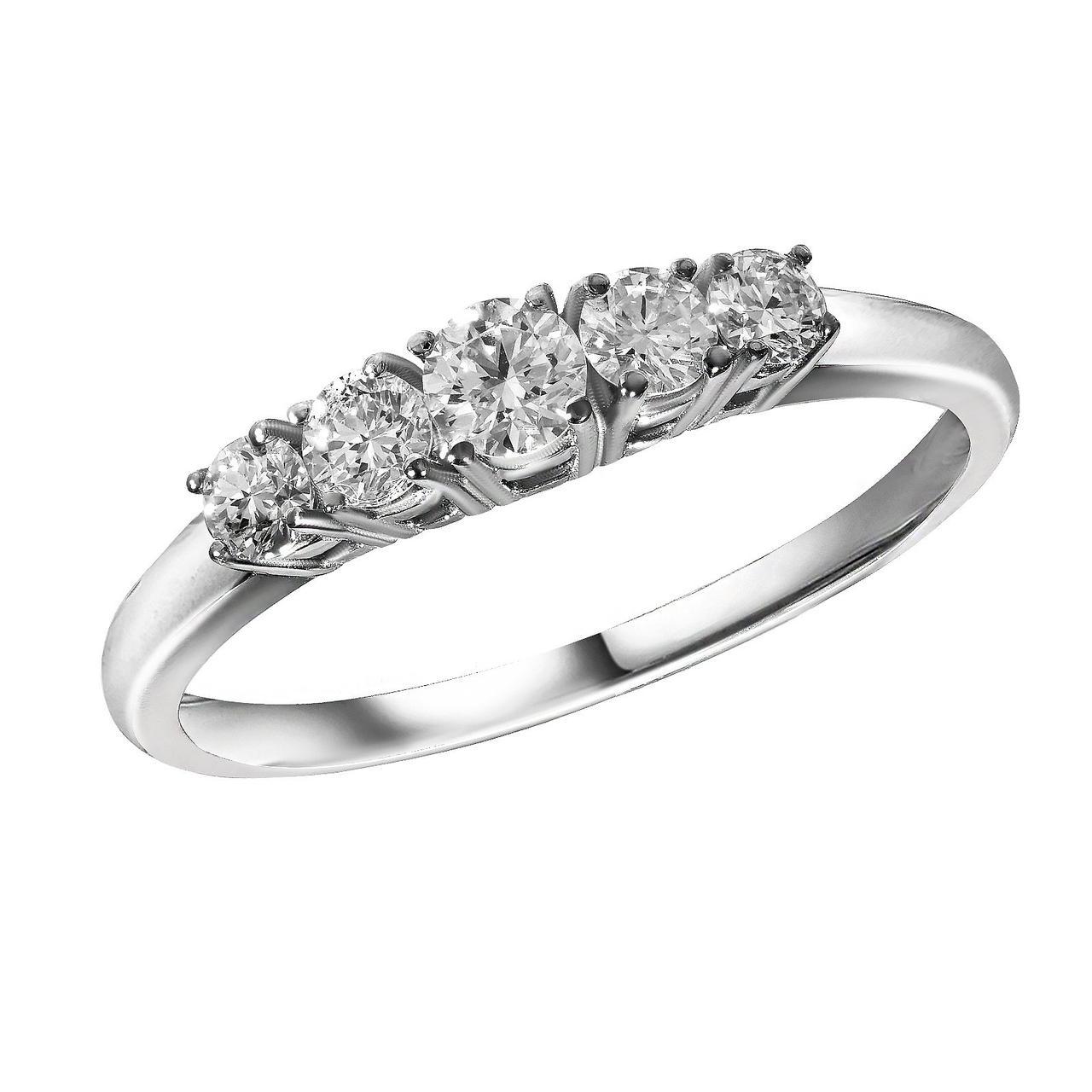 Золотое кольцо с бриллиантами, размер 16.5 (1694194)
