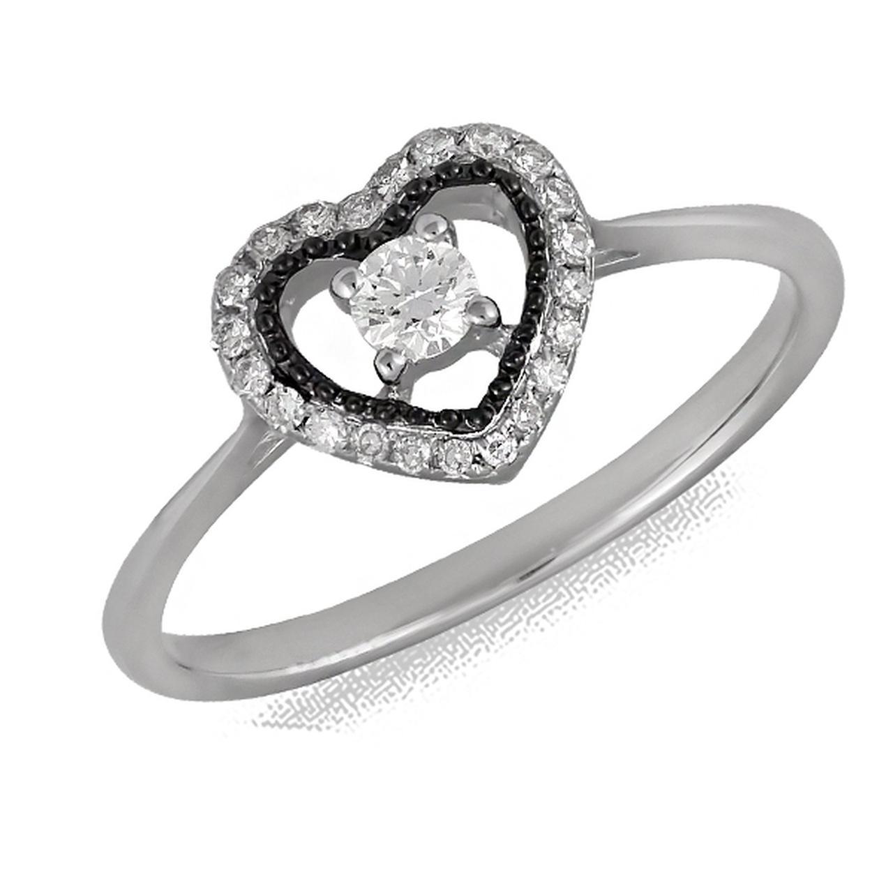 Золотое кольцо с бриллиантами, размер 16.5 (075747)