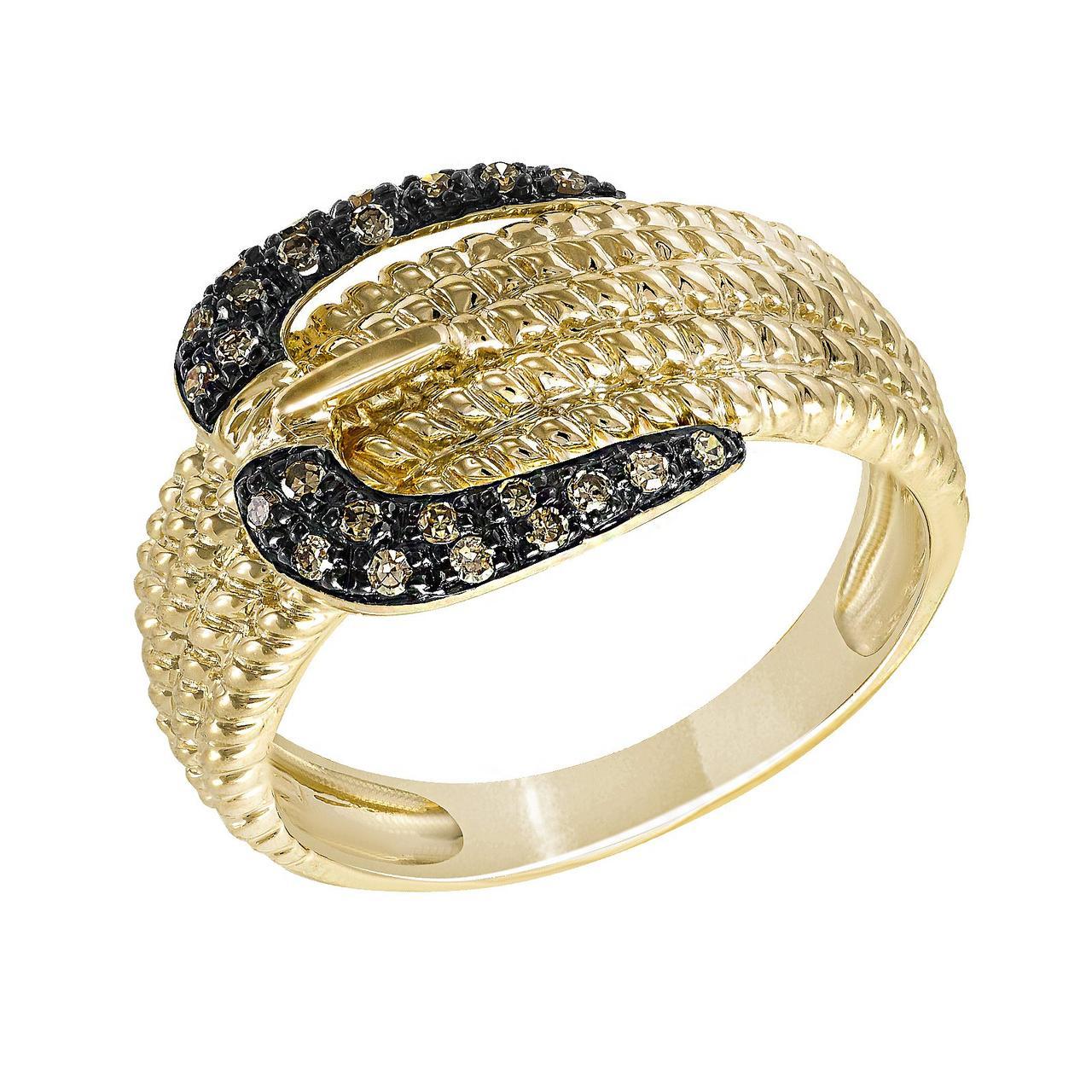 Золотое кольцо с бриллиантами, размер 18.5 (1627841)