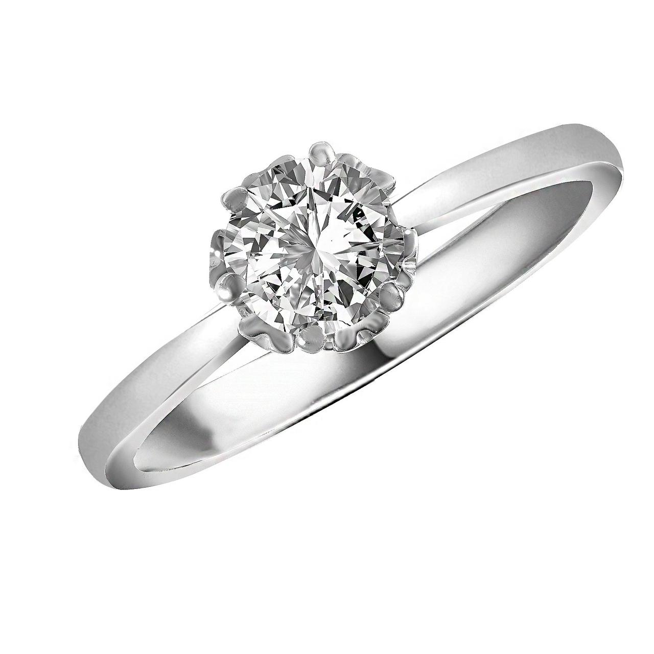 Золотое кольцо с бриллиантом, размер 16 (236430)