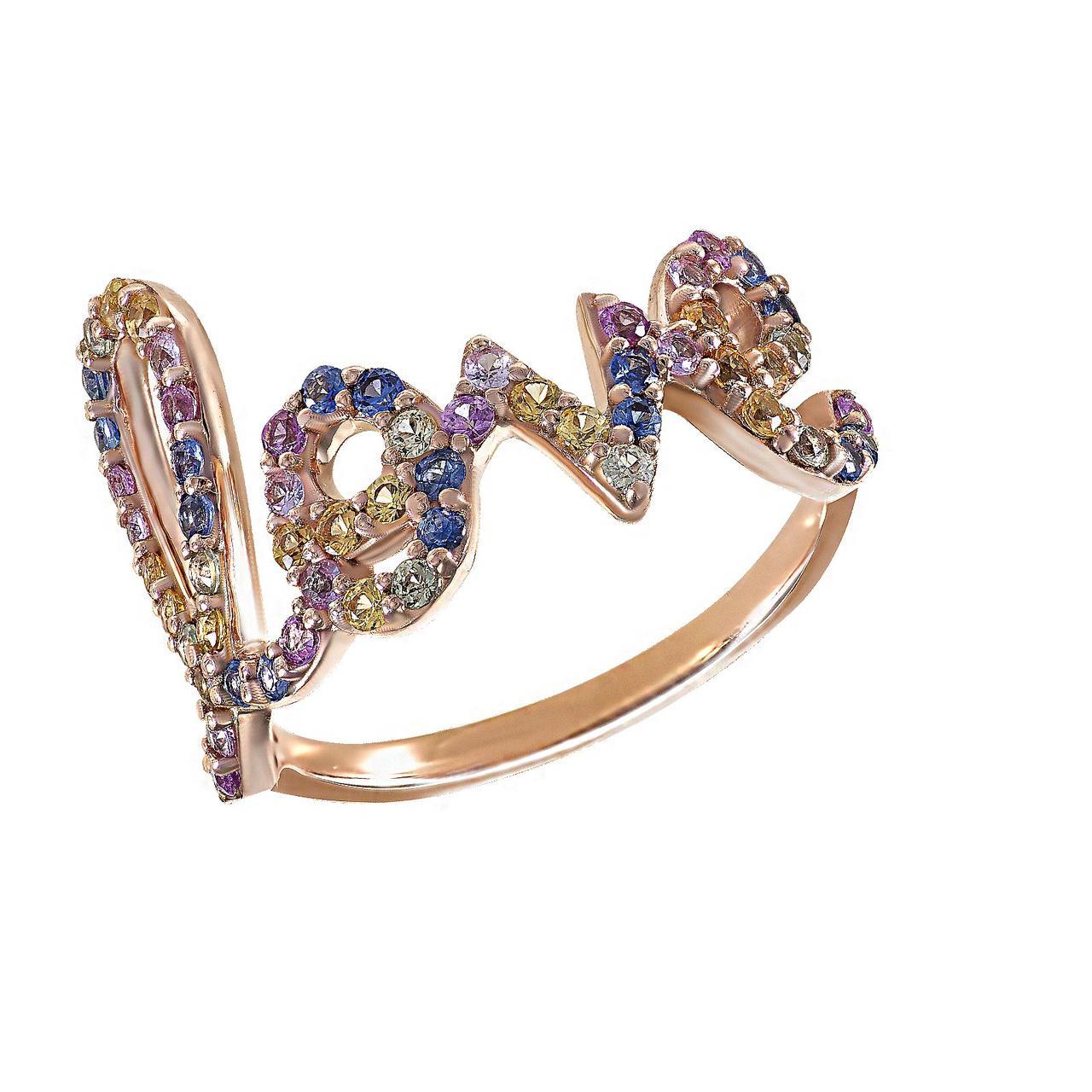 Золотое кольцо с сапфирами, размер 15.5 (1684933)