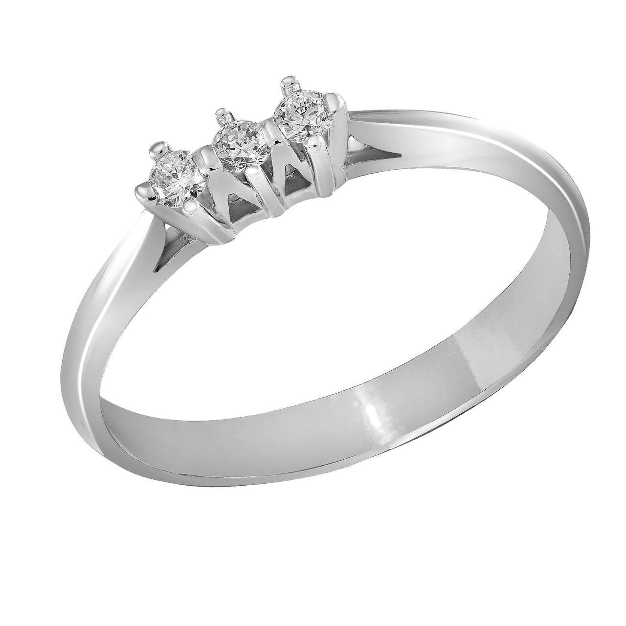Золотое кольцо с бриллиантами, размер 16.5 (872556)