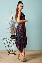 Женское летнее платье с асимметричным подолом (1375-1374 svt), фото 2