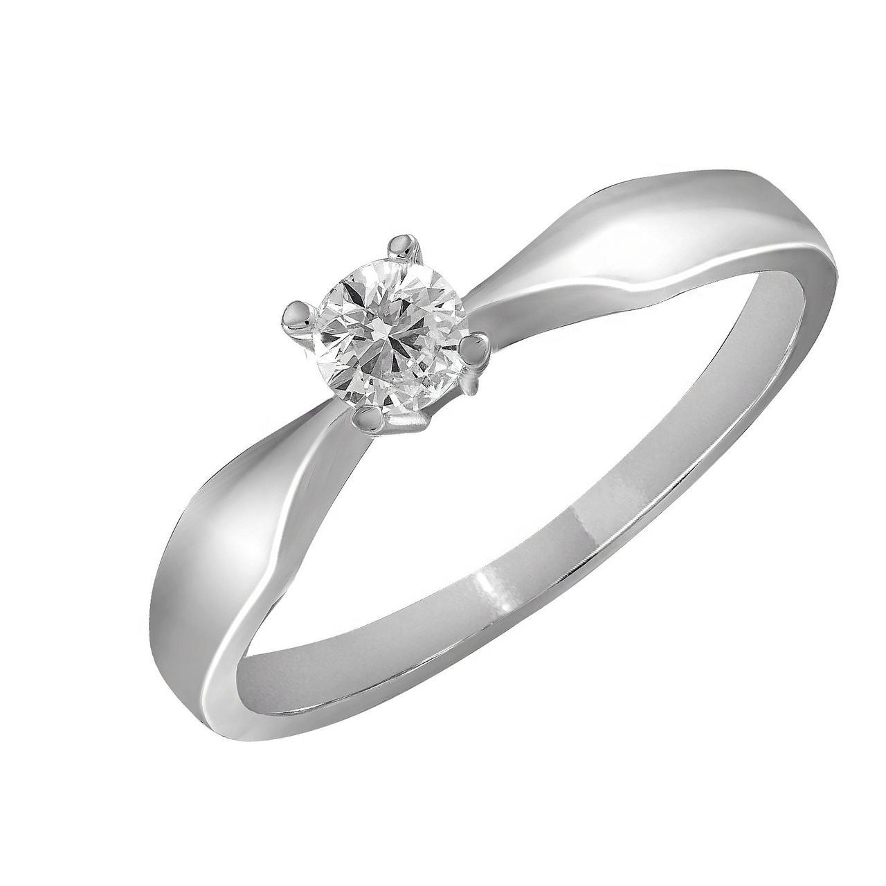 Золотое кольцо с бриллиантом, размер 16.5 (883933)