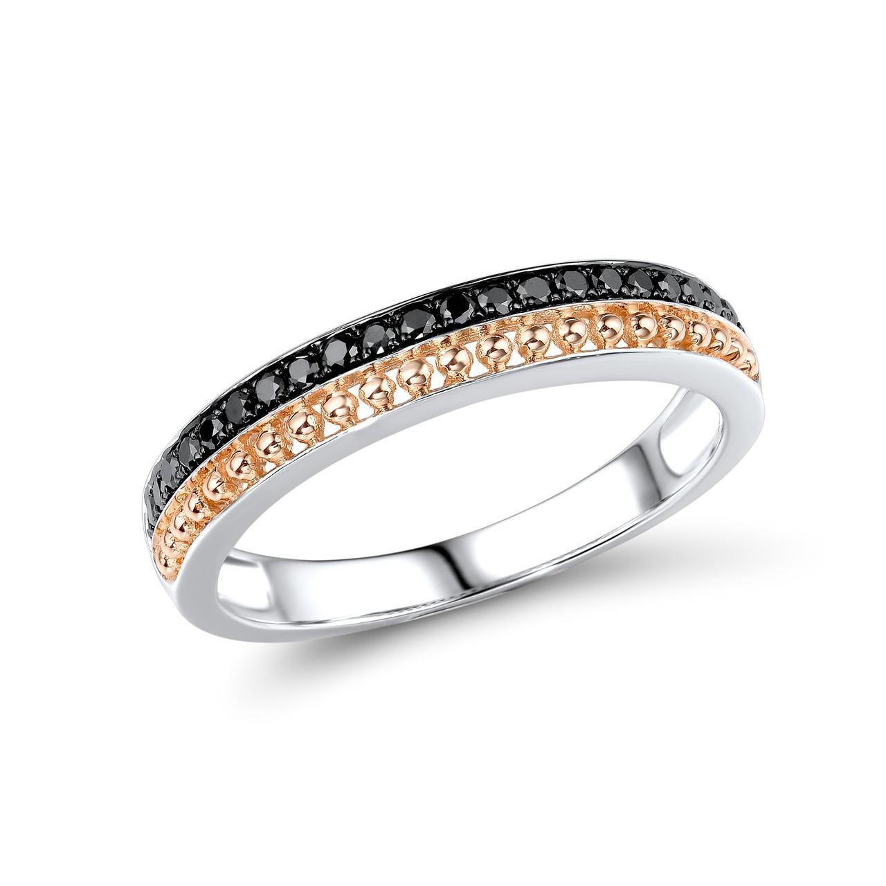 Золотое кольцо с бриллиантами, размер 17 (1718845)