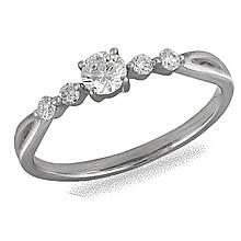 Золотое кольцо с бриллиантами, размер 16.5 (030175)