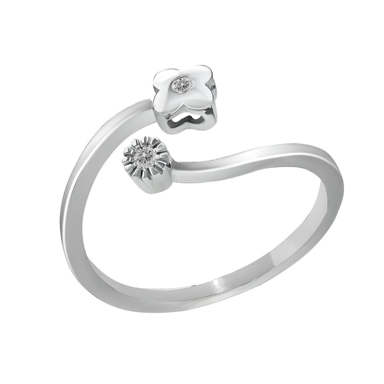 Золотое кольцо с бриллиантами, размер 16.5 (885148)