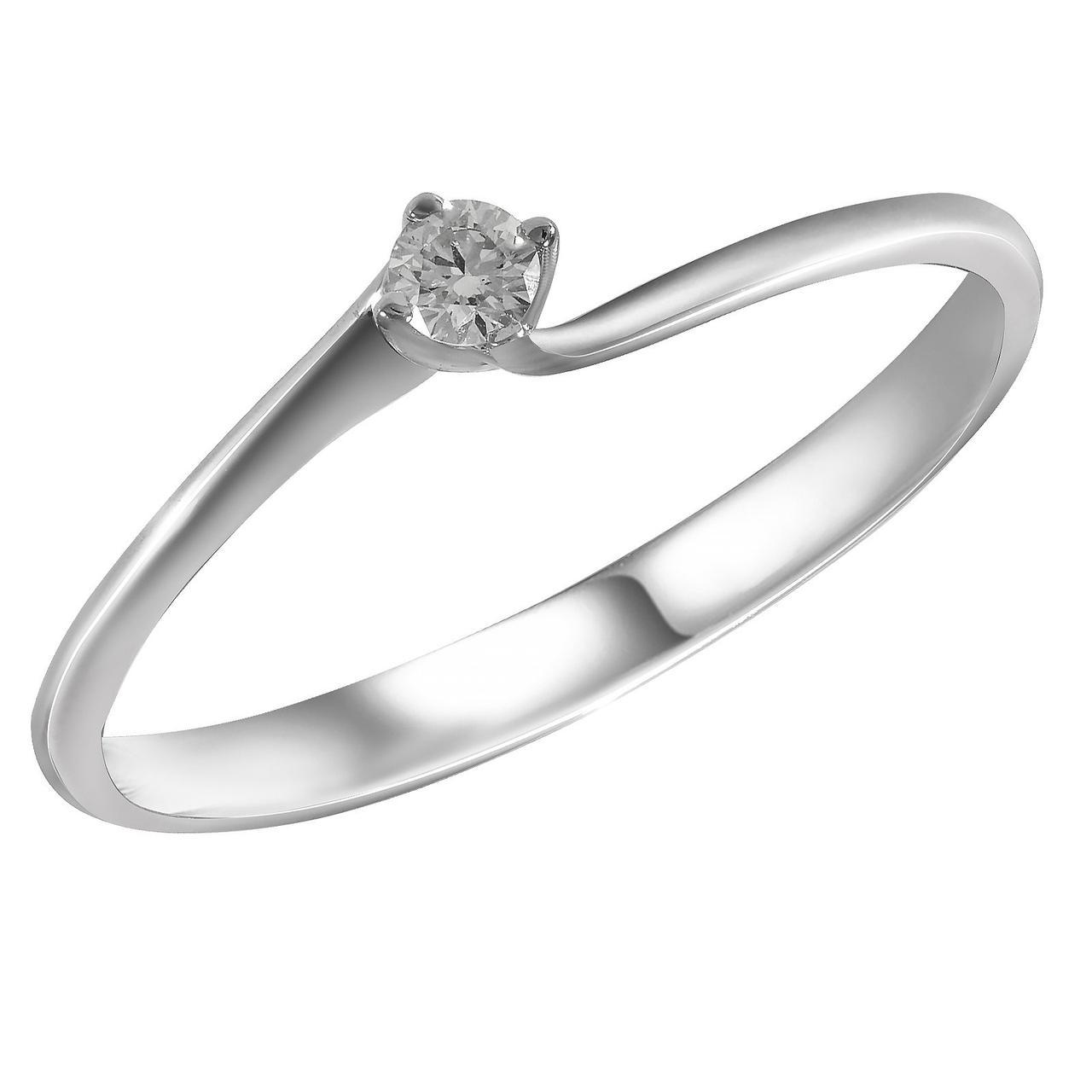 Золотое кольцо с бриллиантом, размер 17 (1697260)