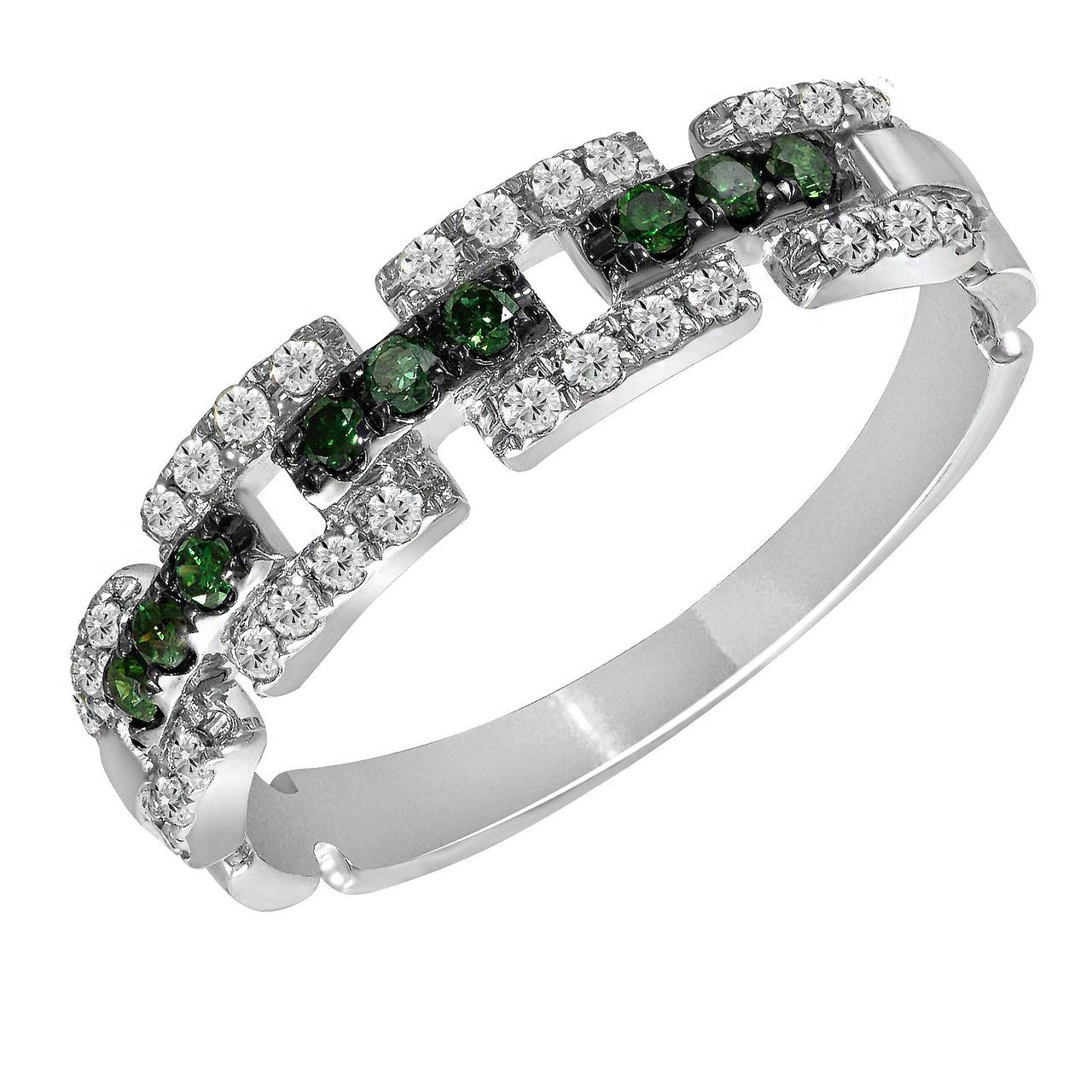 Золотое кольцо с бриллиантами, размер 16 (1616705)