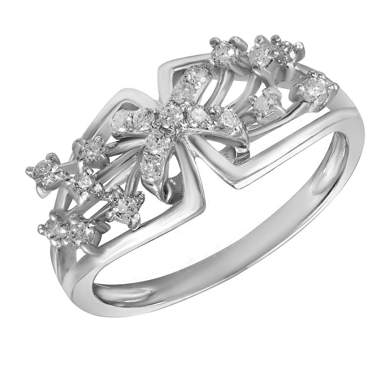 Золотое кольцо с бриллиантами, размер 16 (582851)