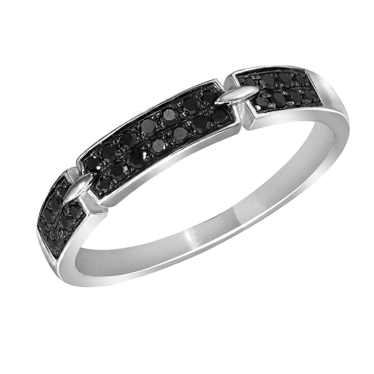 Золотое кольцо с бриллиантами, размер 19 (1616697)