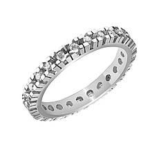 Золотое кольцо с бриллиантами, размер 16.5 (884956)