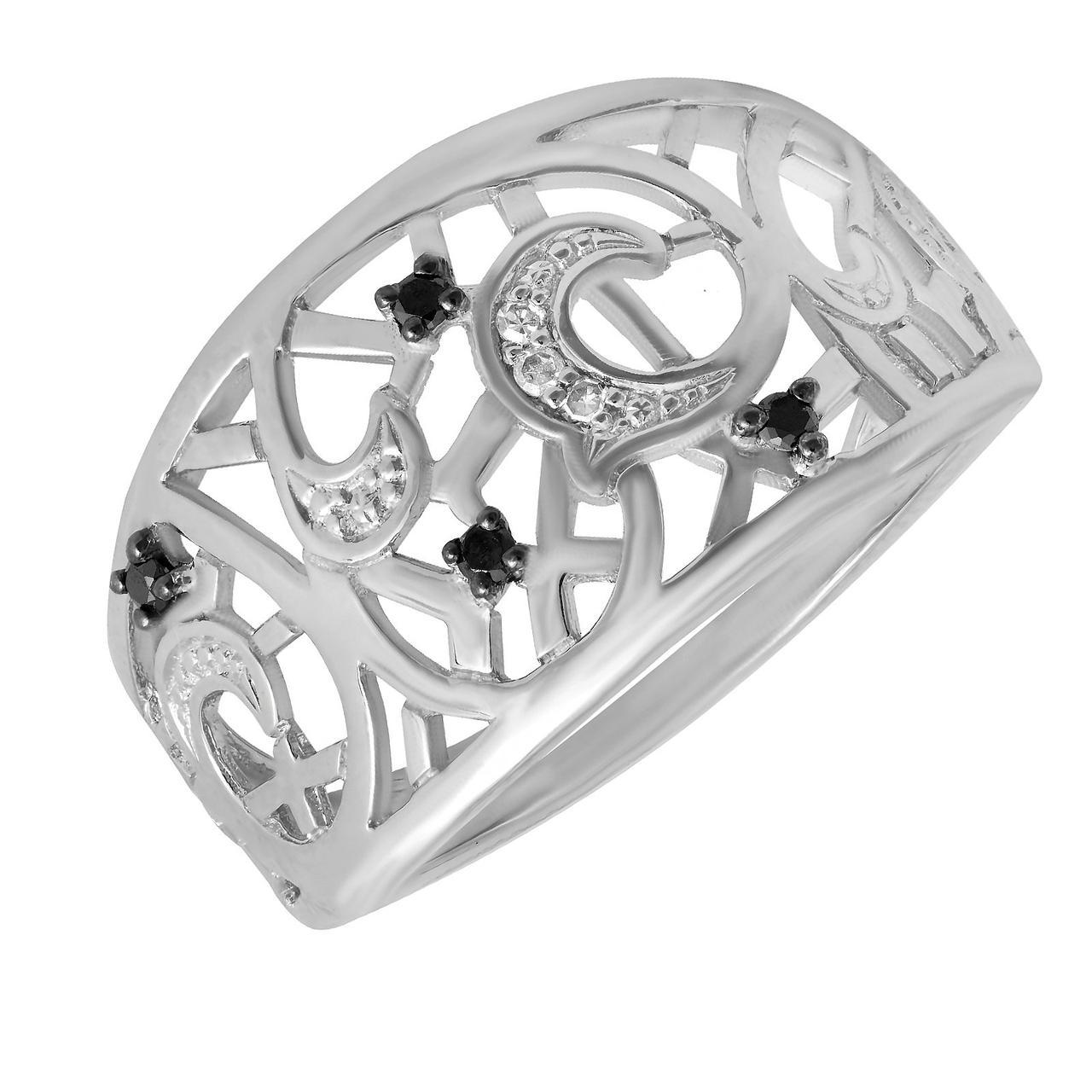 Золотое кольцо с бриллиантами, размер 16 (232961)
