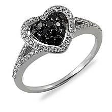Золотое кольцо с бриллиантами, размер 15.5 (012475)
