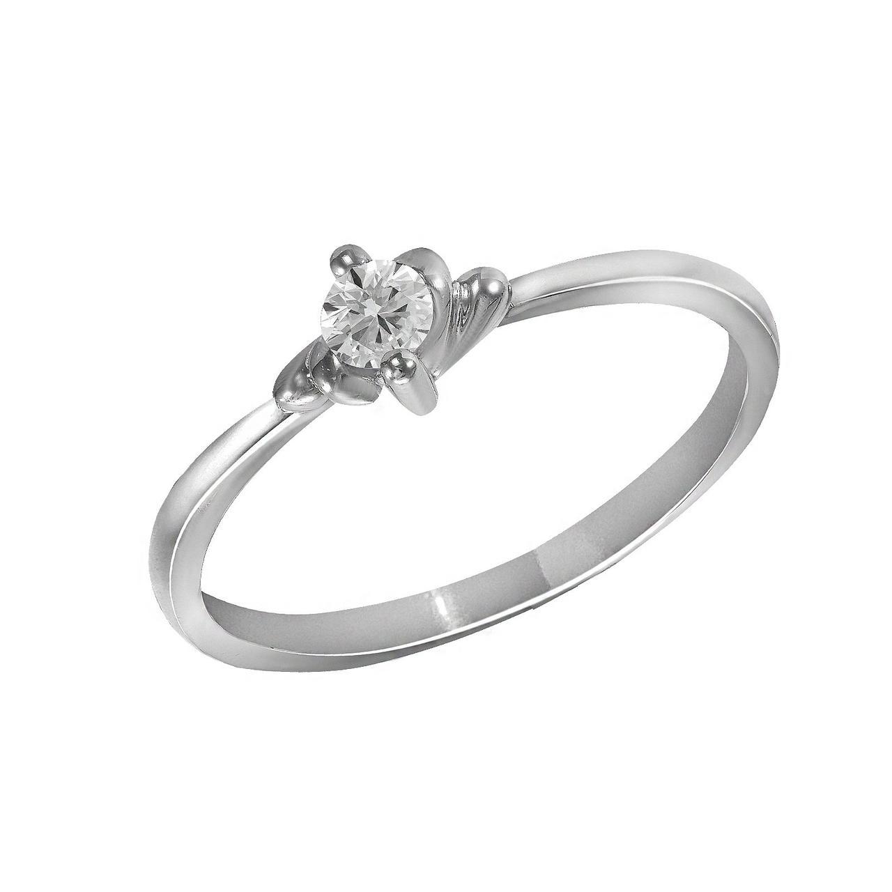 Золотое кольцо с бриллиантом, размер 16 (1616706)