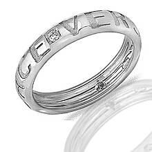 Золотое кольцо с бриллиантами, размер 20.5 (013484)