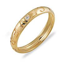 Золотое кольцо с бриллиантами, размер 16 (013482)