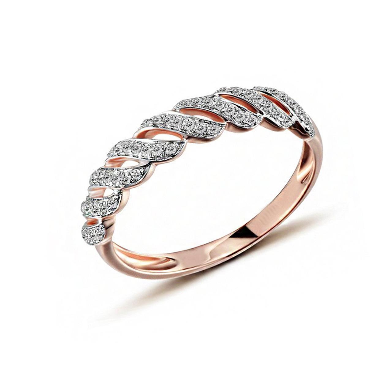Золотое кольцо с бриллиантами, размер 16.5 (1551301)