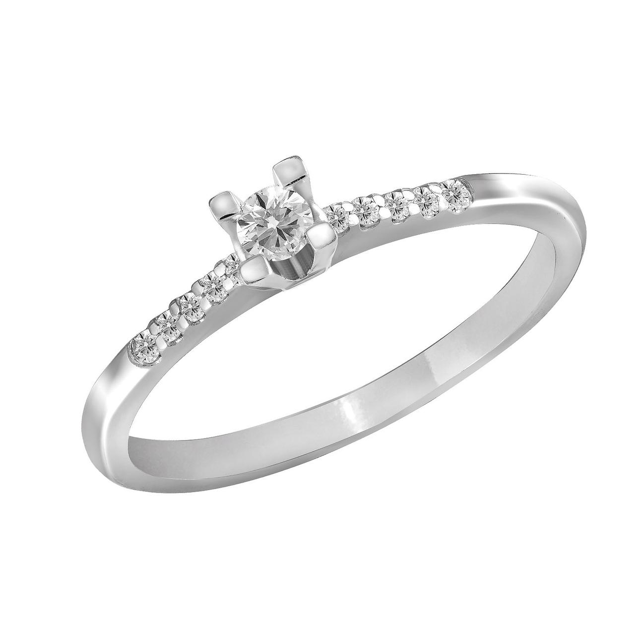 Золотое кольцо с бриллиантами, размер 17 (868927)