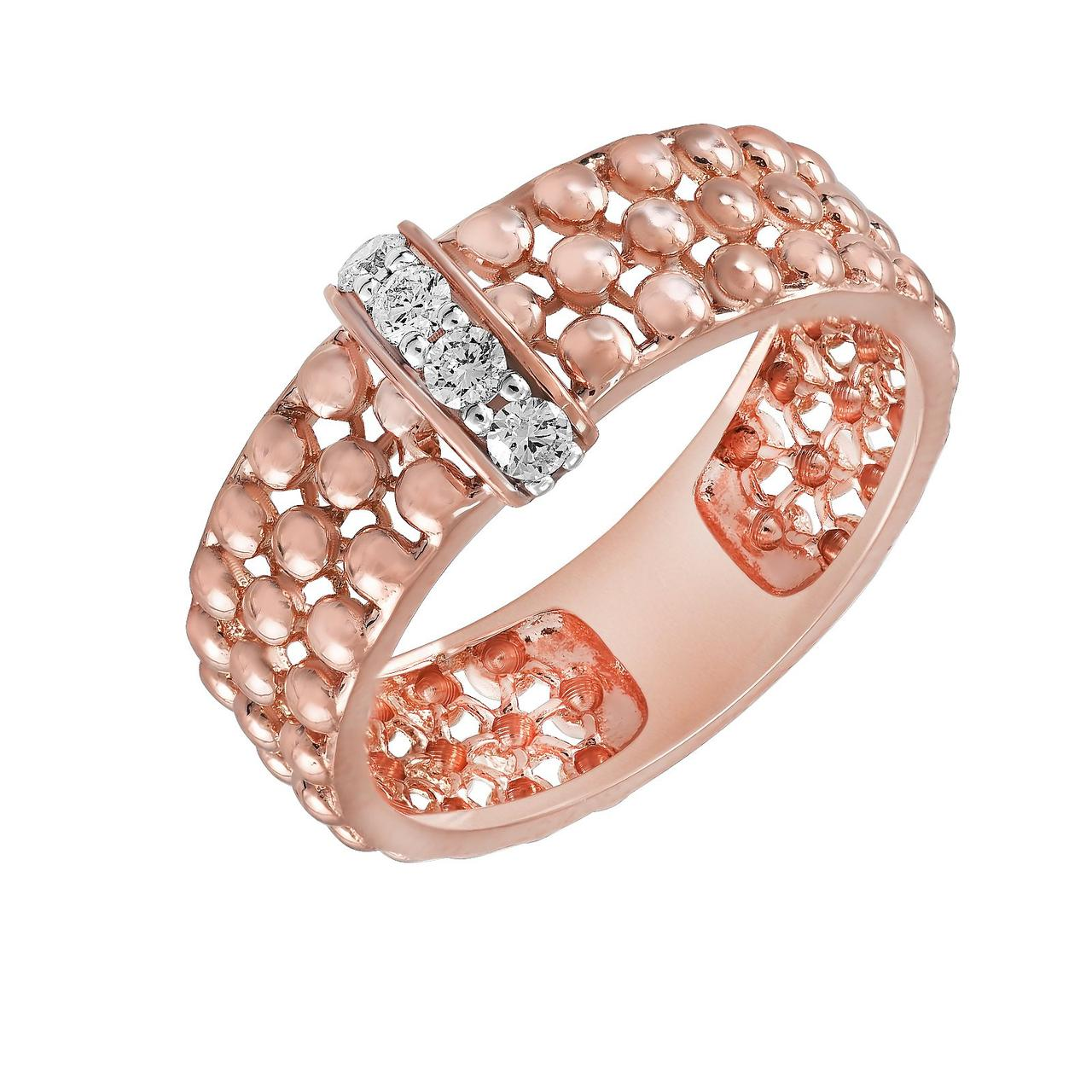 Золотое кольцо с бриллиантами, размер 16.5 (321365)