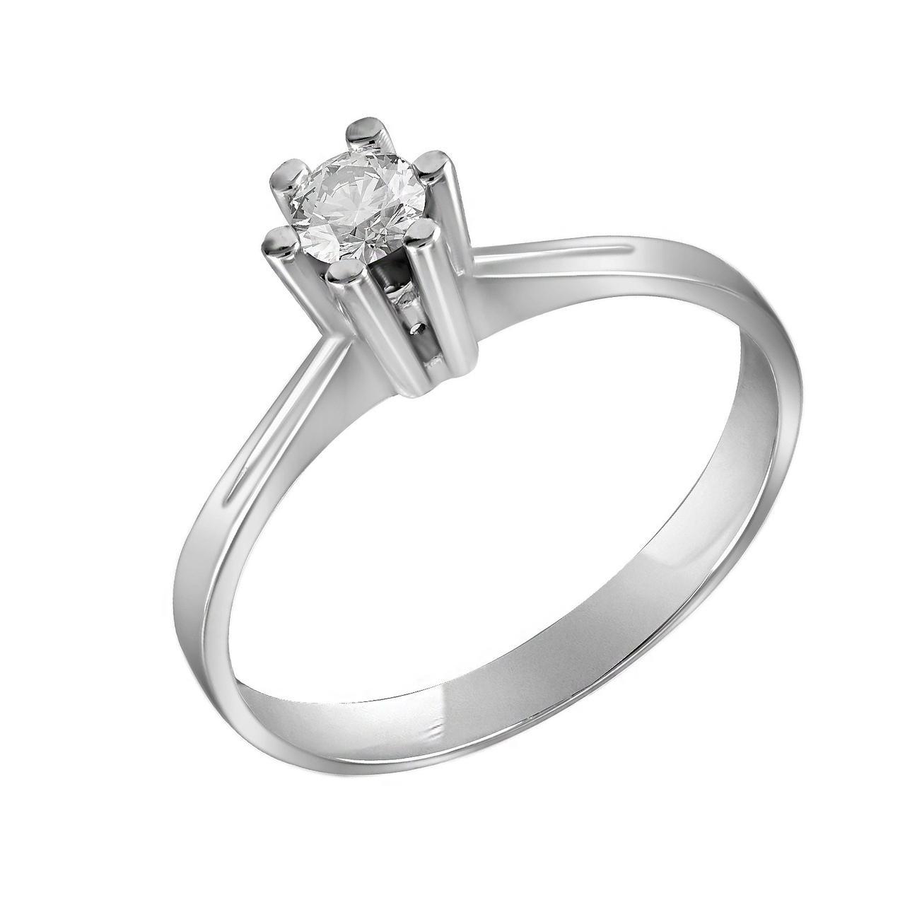 Золотое кольцо с бриллиантом, размер 17 (700025)