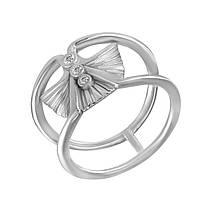 Серебряное кольцо с куб. циркониями, размер 16.5 (857196)