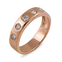 Золотое кольцо с бриллиантами, размер 16 (005027)