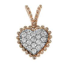 Кулон из красного золота с бриллиантами (1692469)