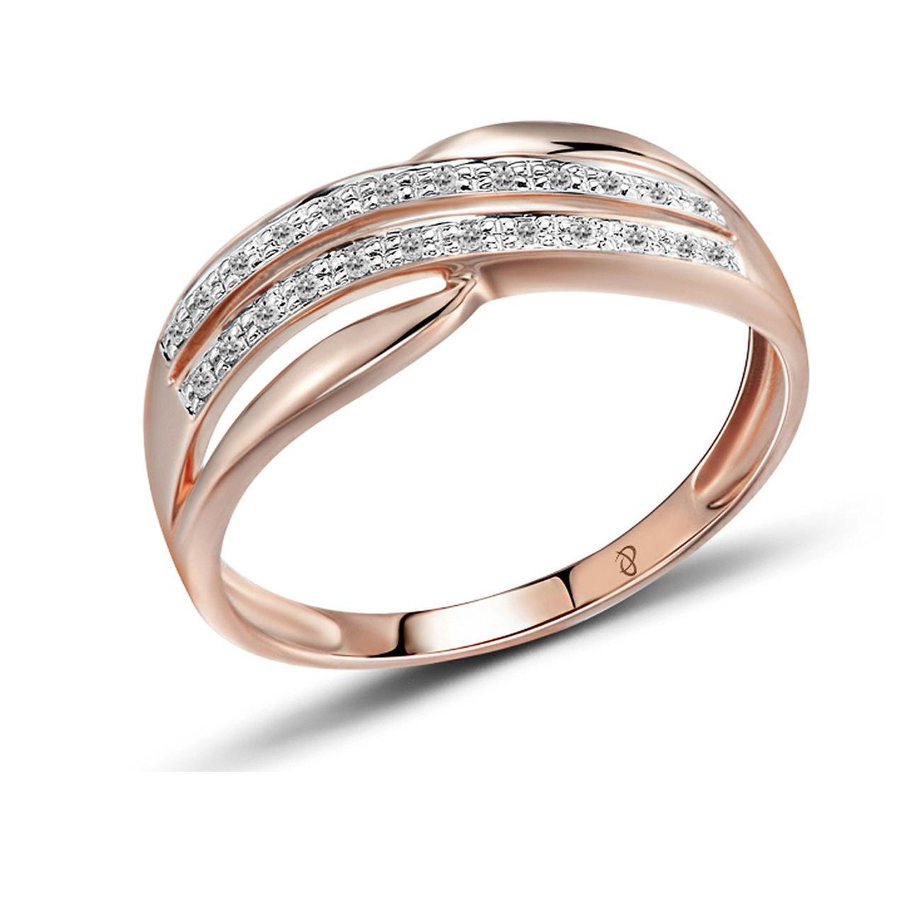 Золотое кольцо с бриллиантами, размер 16 (1551740)