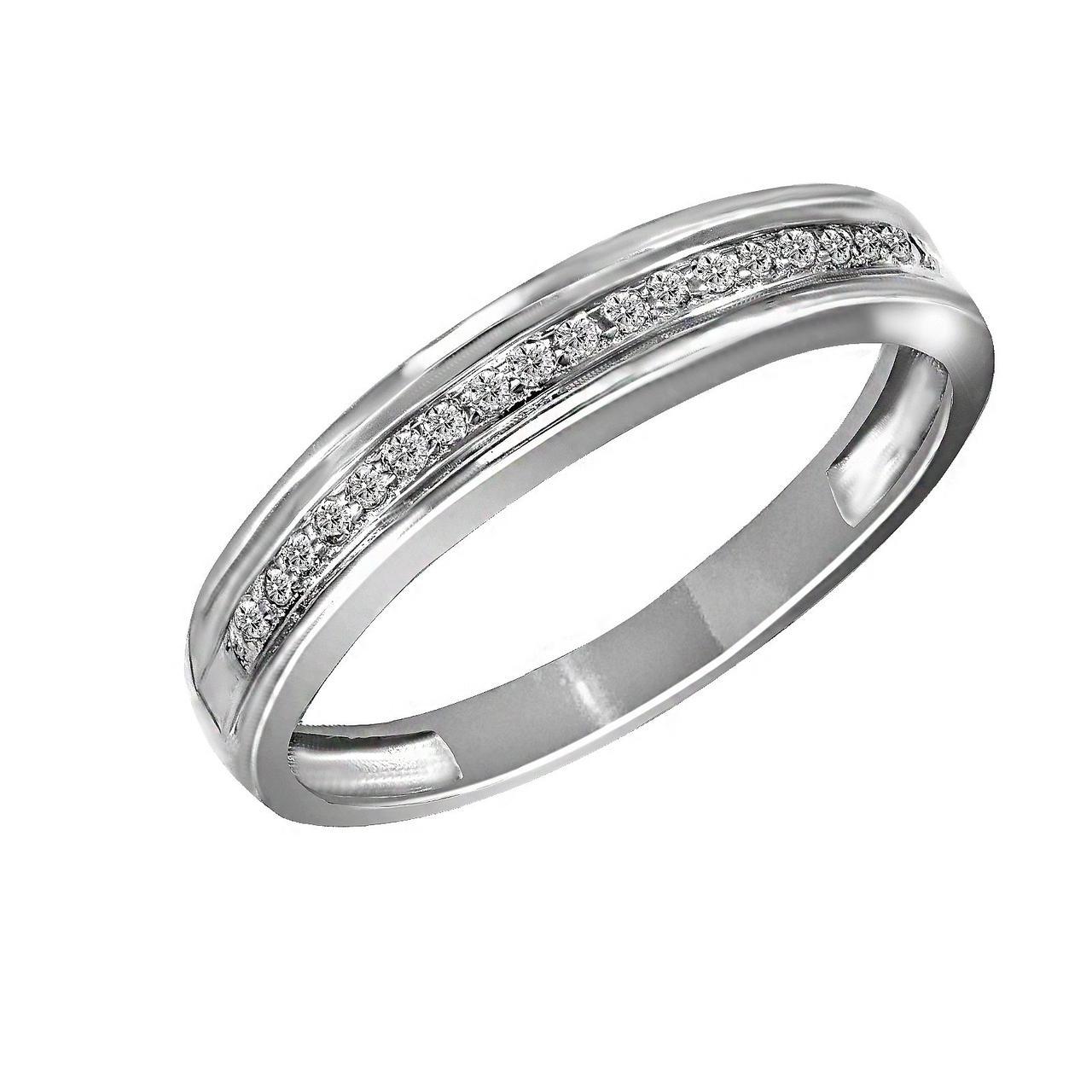 Золотое кольцо с бриллиантами, размер 20 (019236)