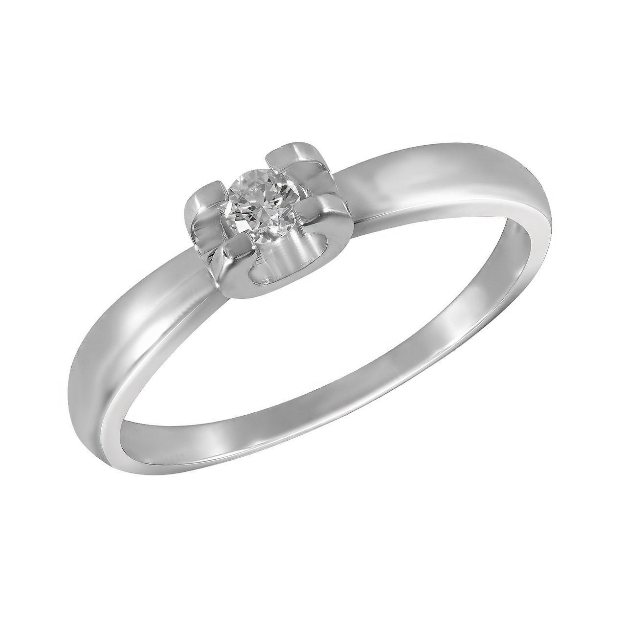 Золотое кольцо с бриллиантом, размер 17 (1680427)