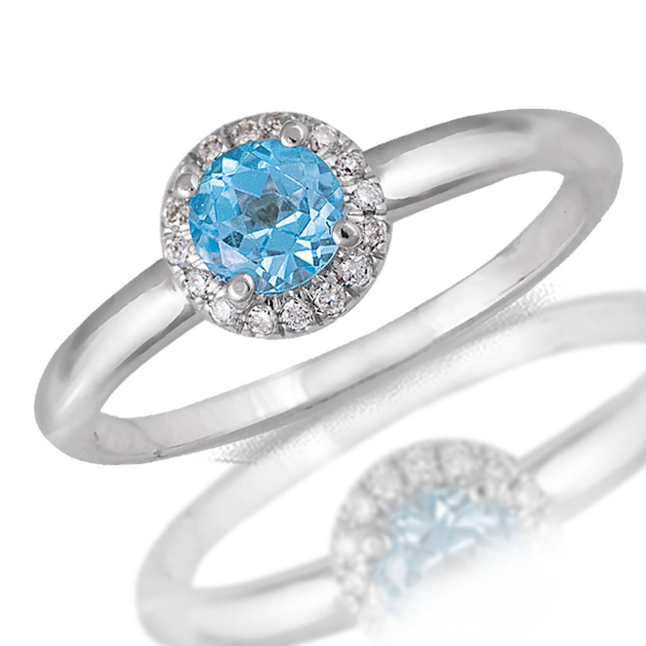 Золотое кольцо с бриллиантами и топазом, размер 16.5 (048196)