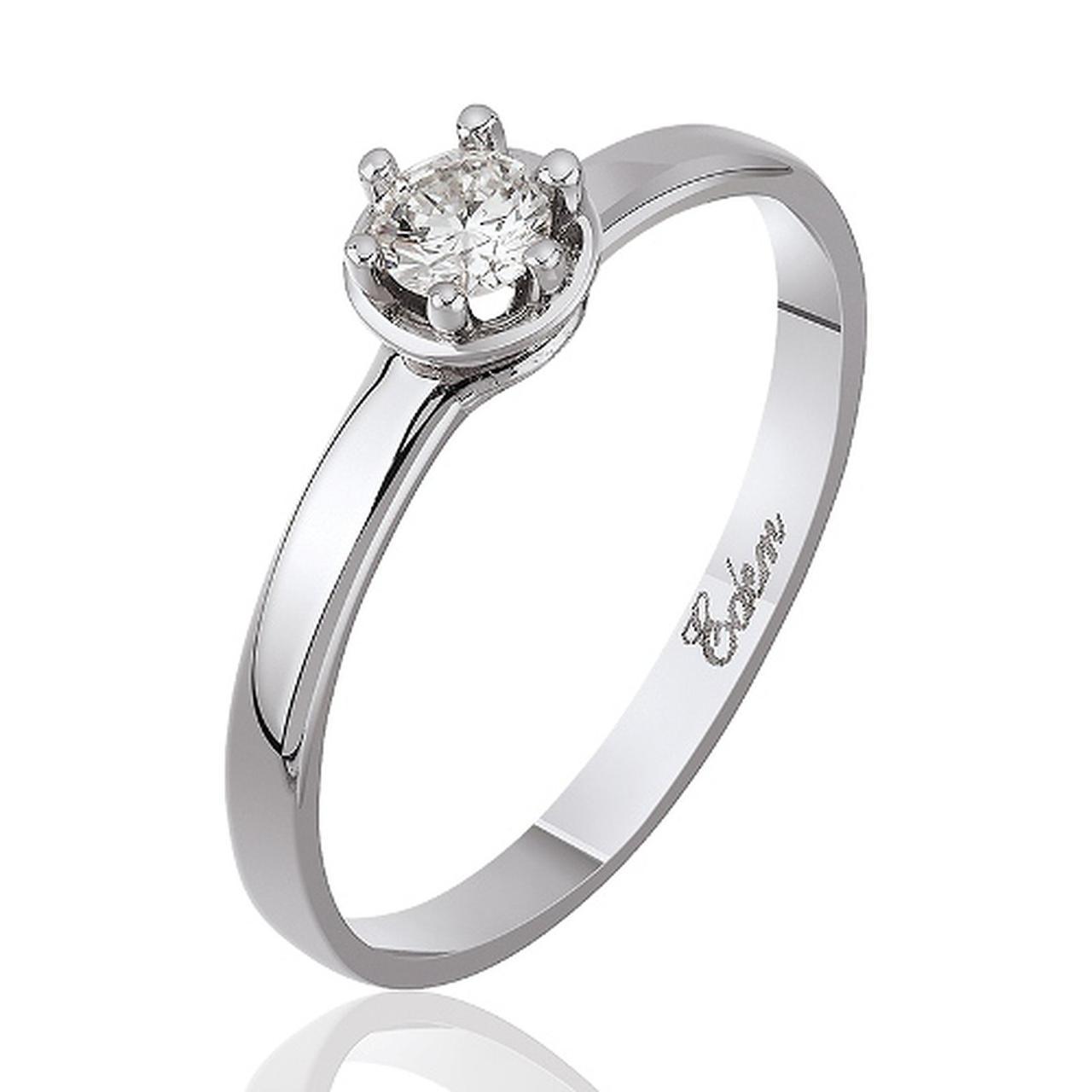 Золотое кольцо с Swarovski, размер 15 (312311)