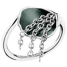 Серебряное кольцо с эмалью, размер 17 (1531105)