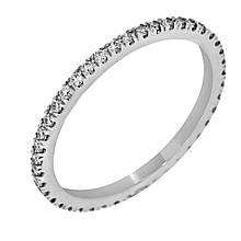 Золотое кольцо с бриллиантами, размер 16 (815809)
