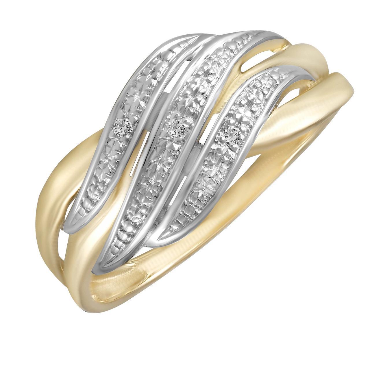 Золотое кольцо с бриллиантами, размер 16 (228893)