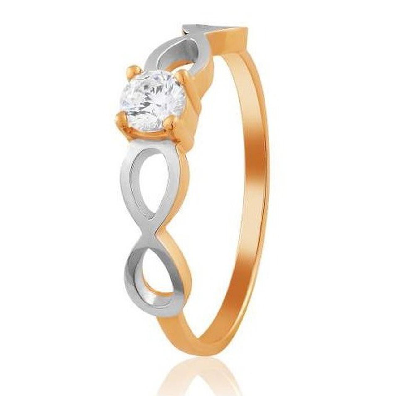 Золотое кольцо с Swarovski Zirconia, размер 16 (1704303)