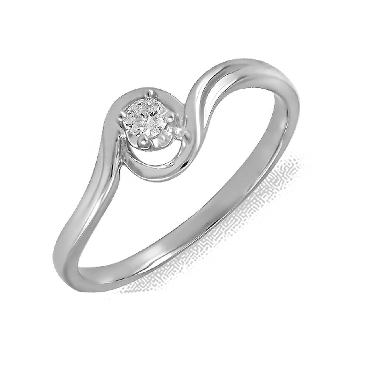 Золотое кольцо с бриллиантом, размер 16 (161846)