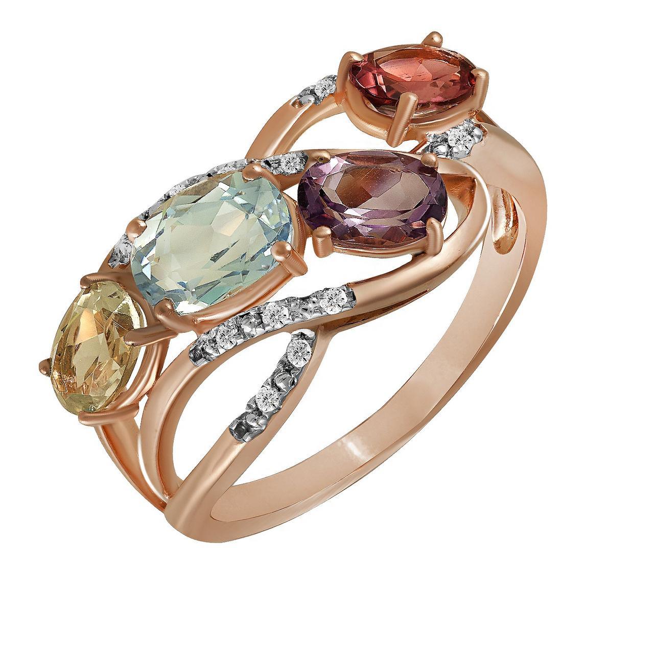 Золотое кольцо, размер 17 (877744)
