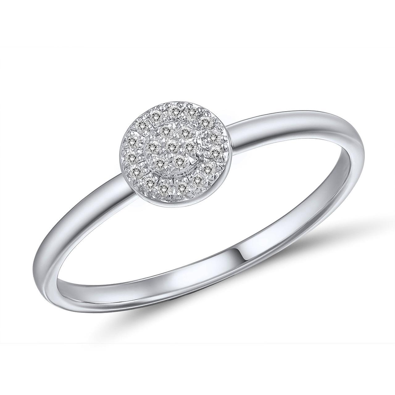 Золотое кольцо с бриллиантами, размер 15.5 (562085)